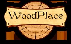 Логотип ВудПлэйс: строительство деревянных домов